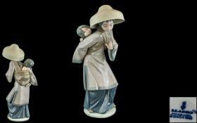 Lladro Hand Painted Porcelain Figure ' M