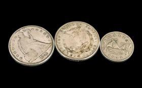 Two Restrike American Dollars, dated 184