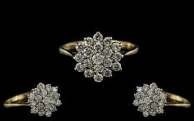 Ladies 9ct Gold Attractive Diamond Set C