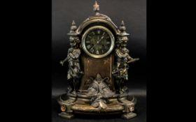 Large & Impressive French Bronzed Metal