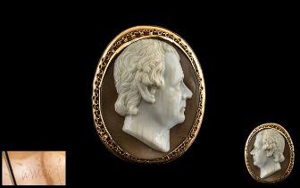 An Important Antique Oval Portrait Bust