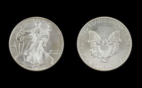 United States of America Liberty Silver Dollar - Marked 1 oz Fine .999 Silver Purity - Date 2013.