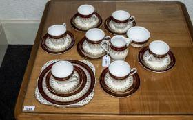 Royal Grafton Tea Set, comprising a milk jug, sugar bowl, seven cups, saucers and side plates,