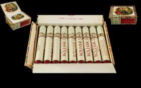 Habana Bolivar Box of ( 25 ) Cigars - No.3. All Tubed, Made by Hand.