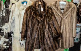 Golden Mink Jacket, hook and eye fastening, collar and reveres, two side slit pockets,