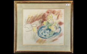 Sir Matthew Smith (1879 -1959 British Post- Impressionist) Coloured Chalk Drawing,