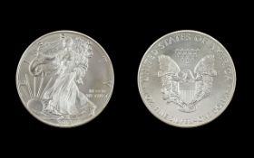 United States of America Liberty Silver Dollar - 1 oz Fine Silver Purity .999 - Date 2013.