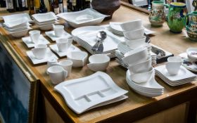 Villeroy & Boch 'New Wave' Dinner Set, 72 Pieces in total comprising 8 x Fish Shape,