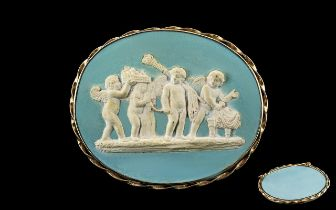 Early Victorian Period After the Antique Superb Quality - Large Oval Shaped Cameo Brooch, The Finely