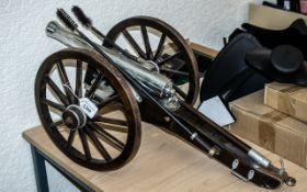 Fine Scale Model of a Military Field Gun and Carriage,