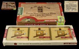 La Flor De La Isabela Box of Handmade Coronas Cigars From Manila Philippines- Cedar wood Box Still