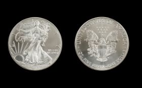 United States of America Liberty Silver One Dollar, Purity 1 oz Fine Silver .999. Date 2015.