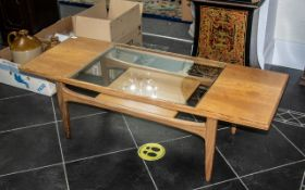 G Plan Fresco Coffee Table with Glass Insert, in teak, circa 1960's. Measures 16.