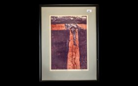Artist's Proof 'Caving' pencil signed to bottom right, framed and mounted behind glass.