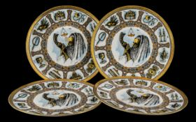 Four Goebel Traditions Plates. All with boxes and in as new condition.