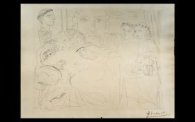 """Pablo Picasso Etching *Minotaure caressant une Femme"""", from """"La Suite Vollard"""","""
