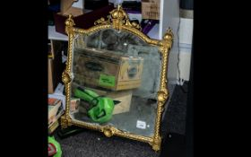 Carved Gilt Wood Mirror in the Mid Victorian Style,