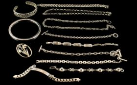 Excellent Collection of Vintage Sterling Silver Jewellery Items ( 12 ) Hallmarked Pieces, All In