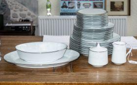"Noritake 'Ravel' Part Dinner Service, comprising 7 x 10"" dinner plates, a large serving platter,"