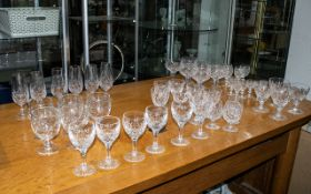 """Large Collection of Quality Cut Glass Items, comprising a 10"""" decanter,"""