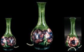 """Moorcroft Hibiscus Table Lamp with shade, overall size including shade 17""""."""