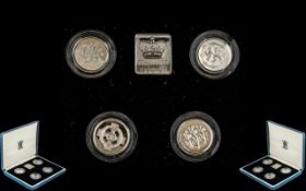 Royal Mint Proof Set 1994 - 1997, solid silver set, in presentation box
