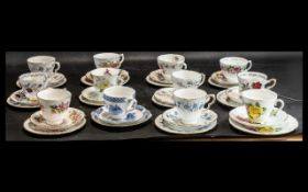 Large Collection of Cups & Saucers.