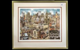 Manchester Interest - Limited Edition Signed Print by Martin Stuart Moore depicting a view of
