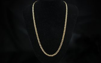 9ct Gold Superb Quality Fancy Double Link Necklace / Chain. Excellent Design and Craftsmanship -