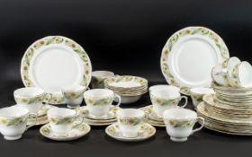 Duchess 'Greensleeves' Dinner/Tea Service, comprising 9 x large dinner plates,
