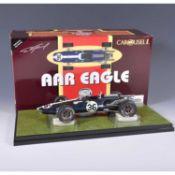 Carousel 1 die-cast 1:18 scale model; AAR Eagle F1 (1967) Dan Gurney