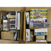 Two boxes of military scale model kits; including Tamiya 1:35 scale LRDG Command Car
