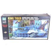 Trumpeter 1:16 scale model kit; King Tiger German heavy tank type VI 'Henschel Turret'