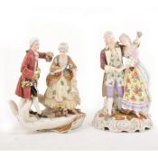 Two Continental porcelain figural groups
