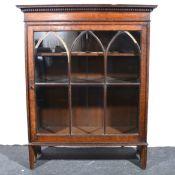 An oak bookcase.