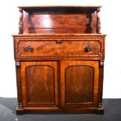 A Victorian mahogany secretaire.