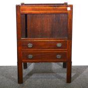 A George III mahogany night cupboard.