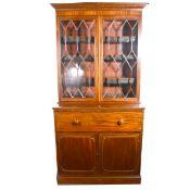 A William IV mahogany secretaire bookcase.