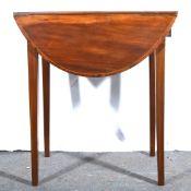 A George III mahogany Pembroke table.