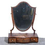 A George III mahogany toilet mirror.
