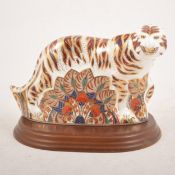 Royal Crown Derby - A large Bengal Tiger paperweight