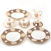 Two part dessert and tea services, including Copeland Spode for Waring and Gillow Ltd