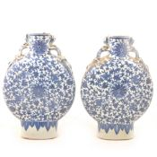 Pair of Chinese moon flasks, Qianlong style.