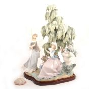 """Lladro - """"Under The Willow"""" group"""