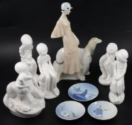 Royal Doulton and Spode figurines.