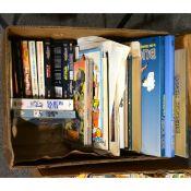 Buck Rogers books, re-print comic strips, comic etc (one box).