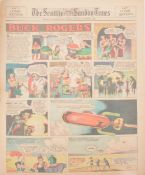 Buck Rogers newspaper comic strip pages, 40 colour supplement pages 1935-1937
