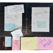 Signatures of film and TV stars, a collection in an album and loose
