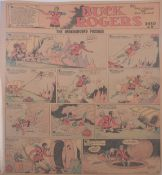 Buck Rogers newspaper comic strip pages, 39 pages, 1930 to 1931