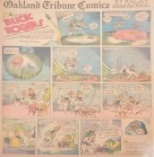 Buck Rogers newspaper comic strip pages, 40 colour supplement pages 1932-134